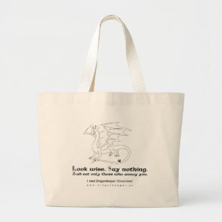 Advice from a Dragon Large Tote Bag
