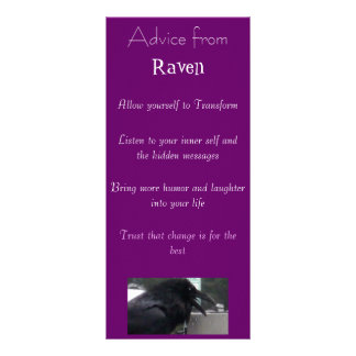 Advice from a Raven Spirit bookmark Rack Card