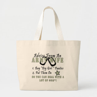 Advice From An Army Wife Large Tote Bag