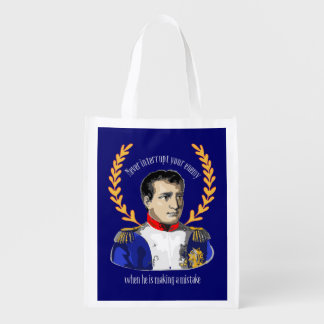 Advice from Napoleon Bonaparte - Great Quotation Reusable Grocery Bag