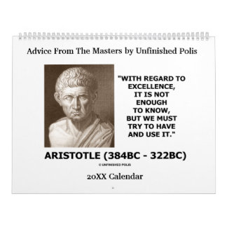 Advice From The Masters by Unfinished Polis Calendar