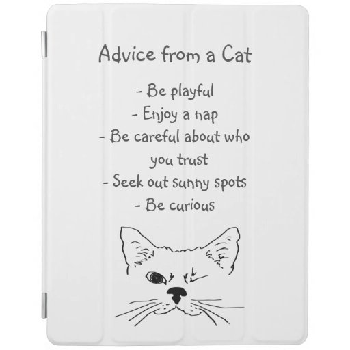 Advice from Winking Cat Fun Animal Humor iPad Smart Cover