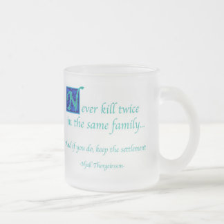 Advice Frosted Glass Coffee Mug