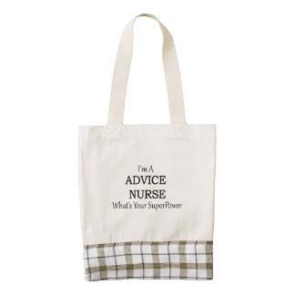 Advice Nurse Zazzle HEART Tote Bag
