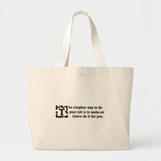 Advice on doing your job most effectively (2) large tote bag