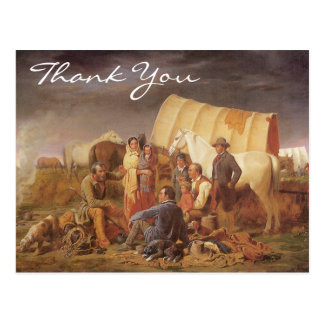 Advice on Prairie by William Ranney, Thank You Postcard