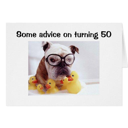 ADVICE ON TURNING 50 CARD | Zazzle