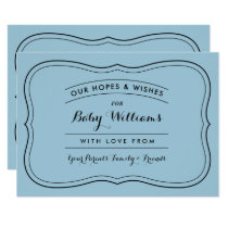 Advice & Wishes for Baby Cards for Custom Colors
