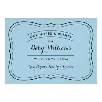 """Advice & Wishes for Baby Cards for Custom Colors 5"""" X 7"""" Invitation Card"""