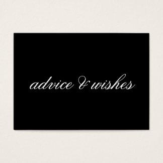 Advice & Wishes Wedding Cards