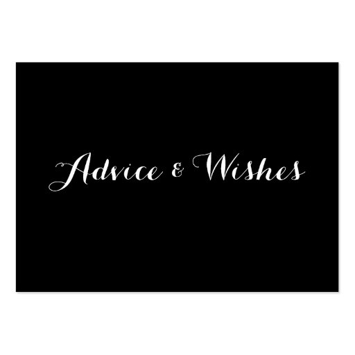 Advice & Wishes Wedding Cards Business Cards
