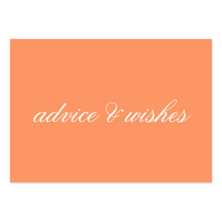 Advice & Wishes Wedding Cards Large Business Cards (Pack Of 100)
