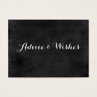 Advice & Wishes Wedding Cards | Chalkboard
