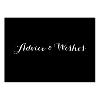 Advice & Wishes Wedding Cards Large Business Card