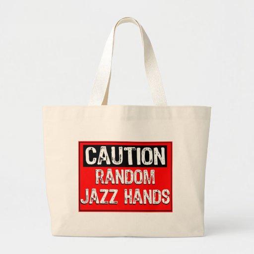 Advierta el arte pop de las manos del Muestra-Jazz Bolsa Tela Grande