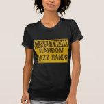 Advierta el VIEJOS amarillo/negro de las manos del Camiseta