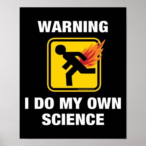 Advirtiendo hago mi propia ciencia Fart humor Posters