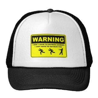 Advirtiendo no tengo que superar al zombi gorras de camionero