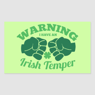 ¡ADVIRTIENDO tengo un genio irlandés! de irlandés Pegatina Rectangular