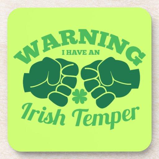 ¡ADVIRTIENDO tengo un genio irlandés! de irlandés  Posavasos De Bebidas
