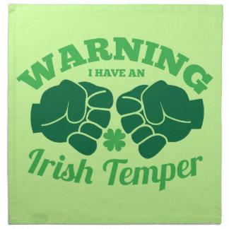 ¡ADVIRTIENDO tengo un genio irlandés! de irlandés  Servilletas