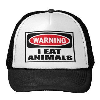 Advirtiendo YO COMO el gorra de los ANIMALES