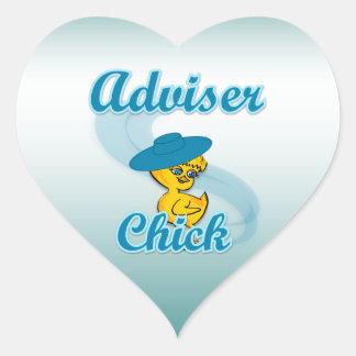 Adviser Chick #3 Heart Sticker