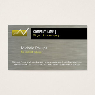 ADVISER IN STOCK MARKET VALUES BLACK ELEGANT BUSINESS CARD