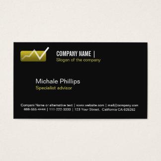 ADVISER IN STOCK MARKET VALUES BLACK ELEGANT BUSINESS CARD