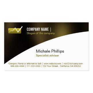 ADVISER IN STOCK MARKET VALUES BLACK ELEGANT INVES Double-Sided STANDARD BUSINESS CARDS (Pack OF 100)