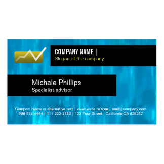 ADVISER IN STOCK MARKET VALUES BLUE ELEGANT INVEST Double-Sided STANDARD BUSINESS CARDS (Pack OF 100)
