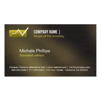 ADVISER IN STOCK MARKET VALUES ELEGANT INVESTMENT  Double-Sided STANDARD BUSINESS CARDS (Pack OF 100)