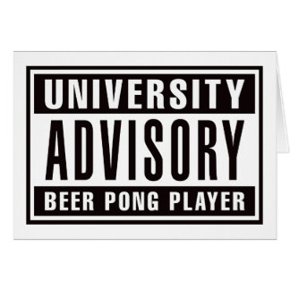 Advisory Beer Pong Player Card