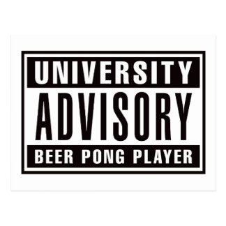 Advisory Beer Pong Player Postcard