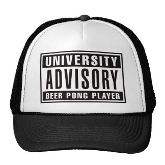 Advisory Beer Pong Player Trucker Hat