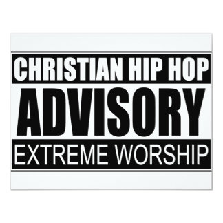"""Advisory cristiano de Hip Hop… Invitación 4.25"""" X 5.5"""""""