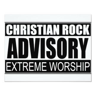"""Advisory cristiano de la roca… invitación 4.25"""" x 5.5"""""""