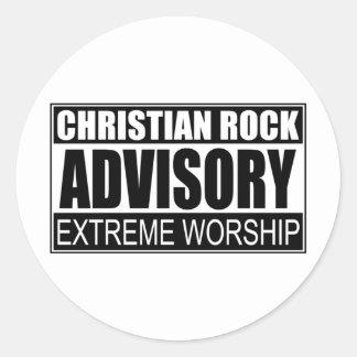 Advisory cristiano de la roca… pegatina redonda