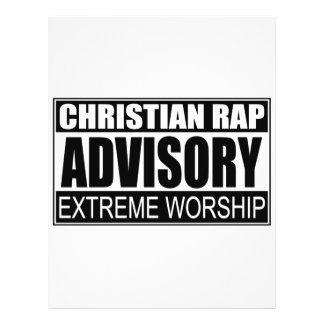"""Advisory cristiano del rap… folleto 8.5"""" x 11"""""""