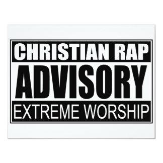"Advisory cristiano del rap… invitación 4.25"" x 5.5"""