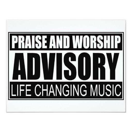 """Advisory de la alabanza y de la adoración… invitación 4.25"""" x 5.5"""""""