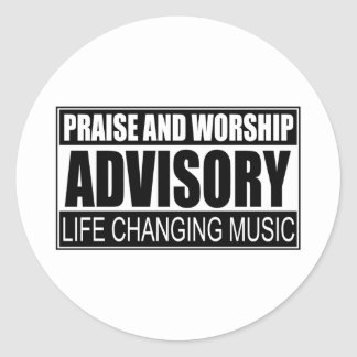 Advisory de la alabanza y de la adoración… pegatina redonda
