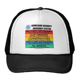Advisory de la seguridad de patria gorras de camionero