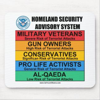 Advisory de la seguridad de patria tapete de ratón