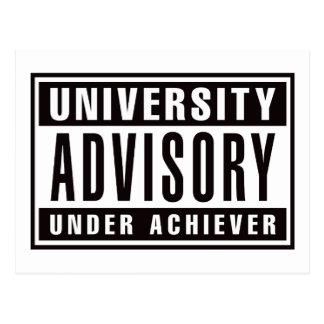Advisory de la universidad debajo del cumplidor postal