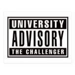 Advisory de la universidad el desafiador postales