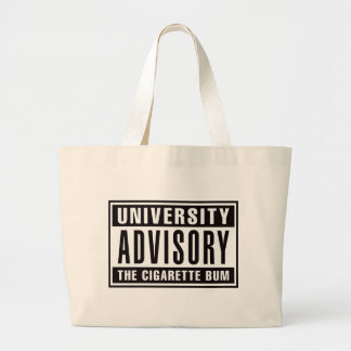 Advisory de la universidad el vago del cigarrillo bolsa tela grande