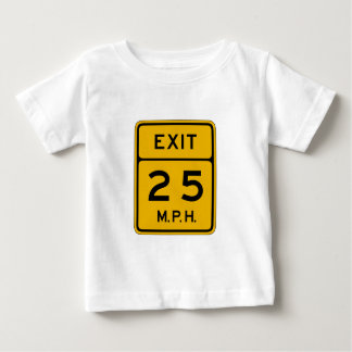 Advisory Speed Exit English, Traffic Sign, USA Baby T-Shirt