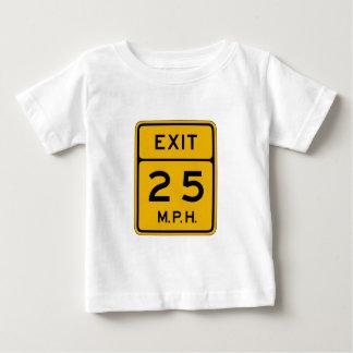 Advisory Speed Exit English, Traffic Sign, USA Baby T-Shirt
