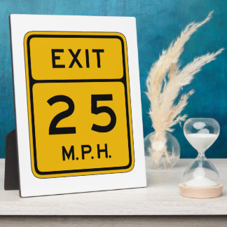 Advisory Speed Exit English, Traffic Sign, USA Display Plaques